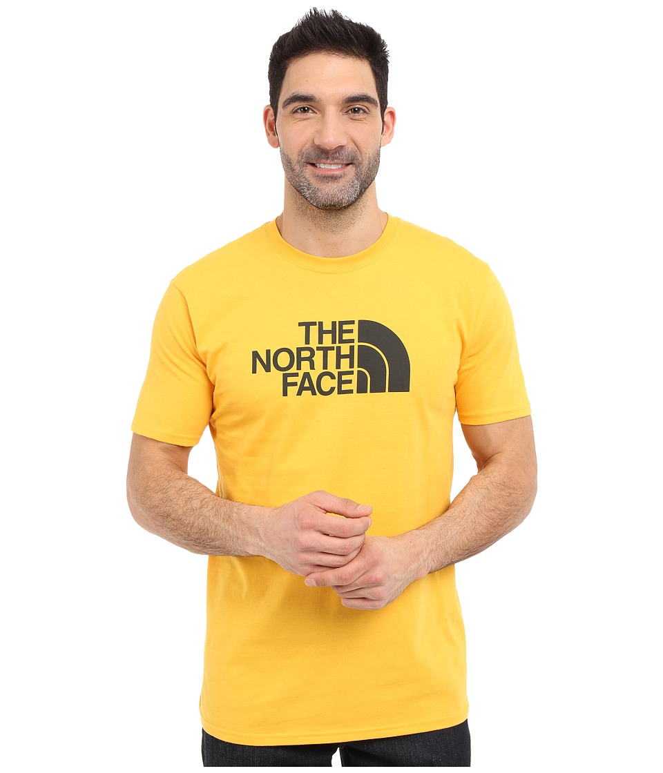 The North Face Short Sleeve Half Dome Tee (Citrus Yellow/Asphalt Grey) Men