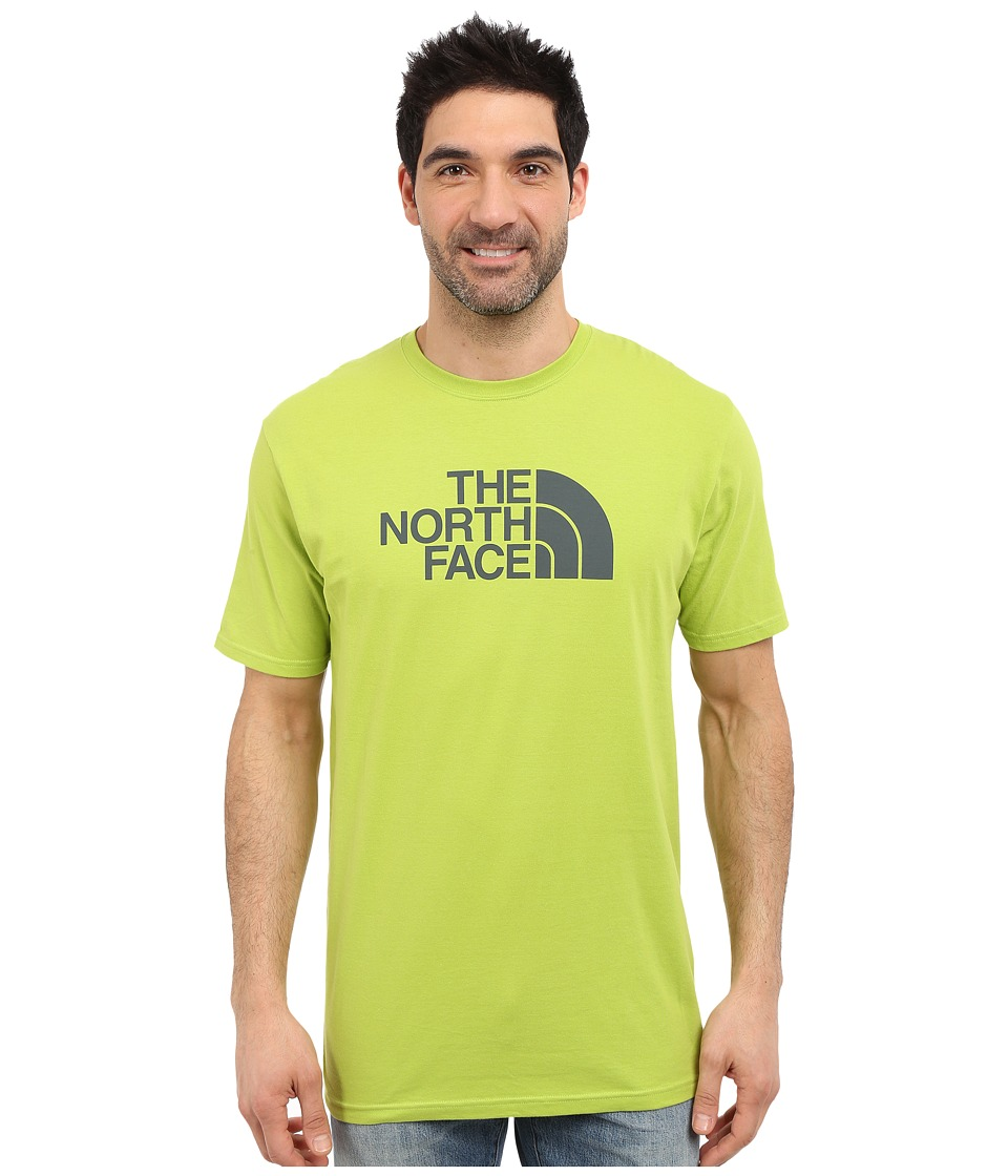 The North Face Short Sleeve Half Dome Tee (Macaw Green/Spruce Green) Men
