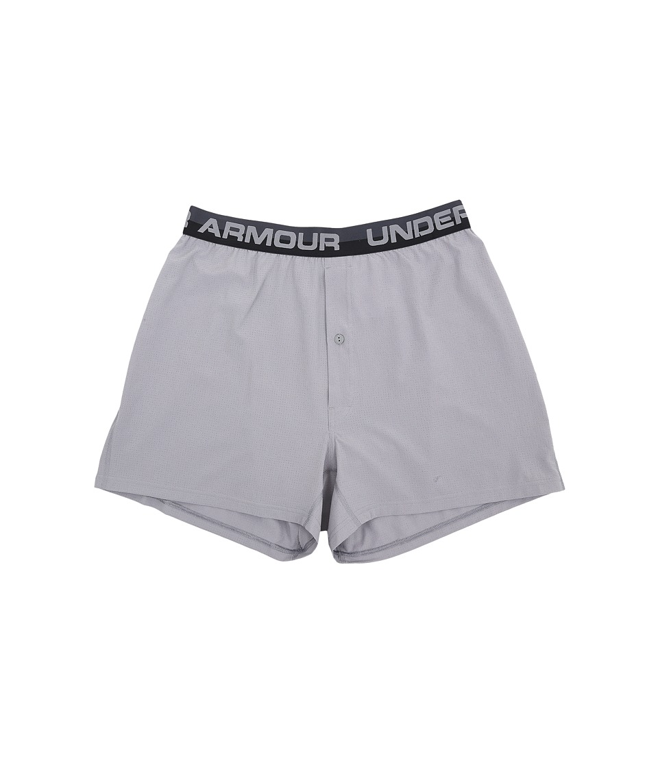 Under Armour - UA Airvent Woven Boxer Shorts (Steel/Steel) Men's Underwear