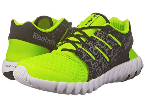 Reebok Kids - Twistform Fall 2015 (Little Kid) (Graphic Print/Solar Yellow/Black/White/Shark) Boys Shoes