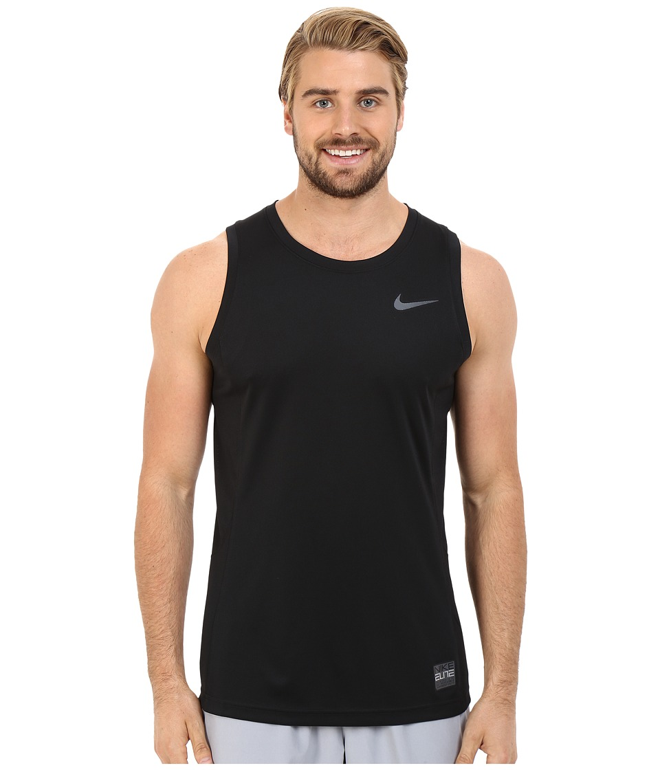 Nike - Elite Hybrid Tank Top (Black/Black/Black/Anthracite) Men's Sleeveless