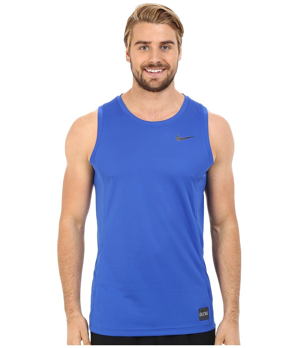 Nike - Elite Hybrid Tank Top (Game Royal/Game Royal/Game Royal/Black) Men's Sleeveless