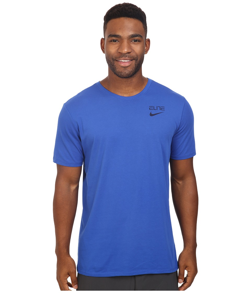 Nike - Elite Back Stripe Tee (Game Royal/Game Royal/Obsidian) Men's T Shirt