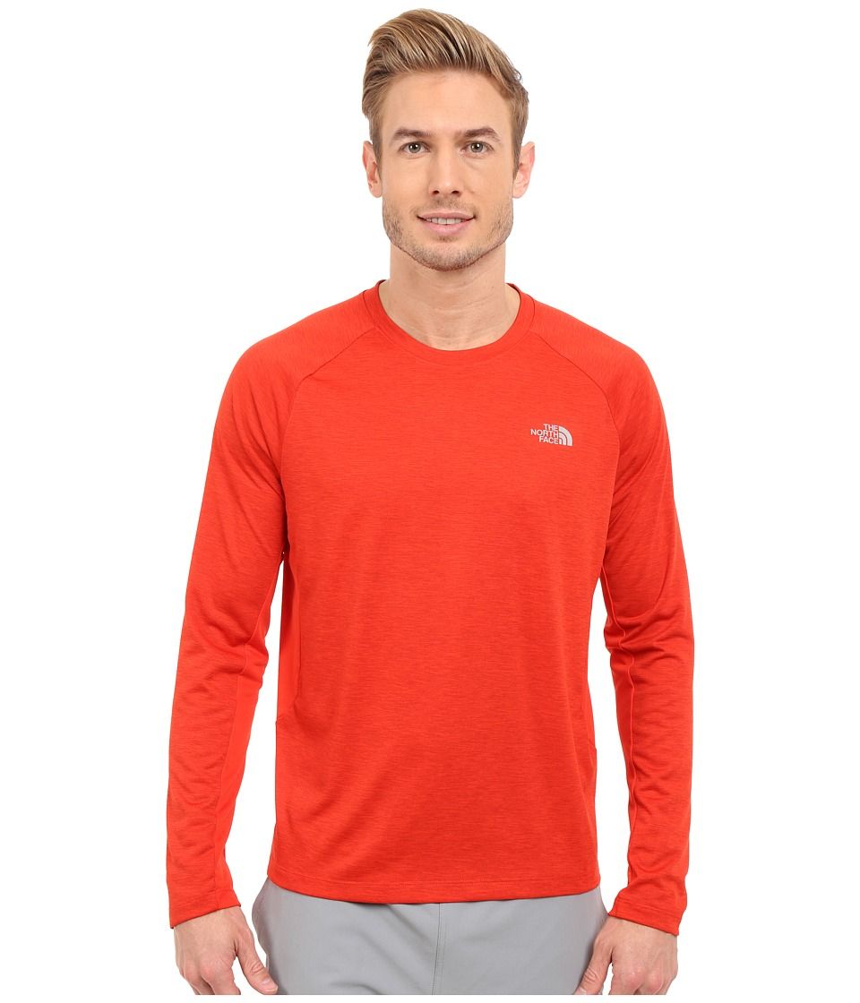 The North Face - Ambition Long Sleeve Shirt (Pompeian Red Heather) Men's Long Sleeve Pullover