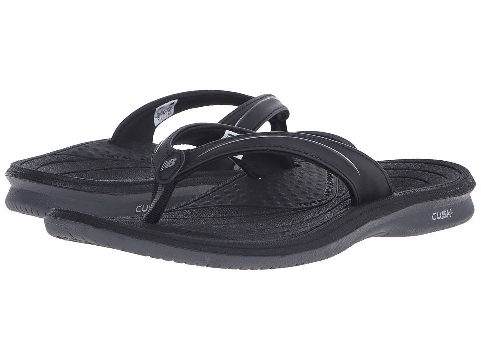 New Balance - Cush+ Thong (Black/Grey) Women's Sandals