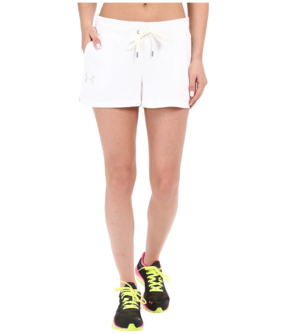 Under Armour - UA Favorite French Terry Shortie (White/Elemental) Women's Workout