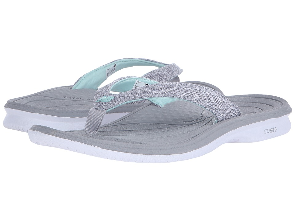 New Balance Cush+ Heathered Thong (White/Grey) Women