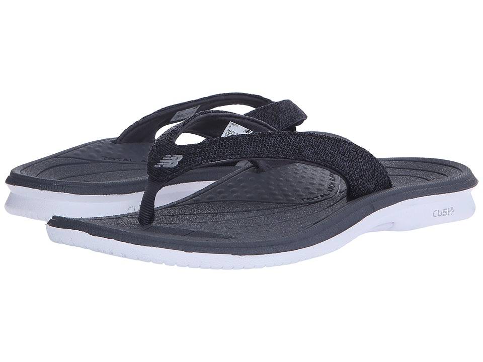 New Balance Cush+ Heathered Thong (White/Black) Women