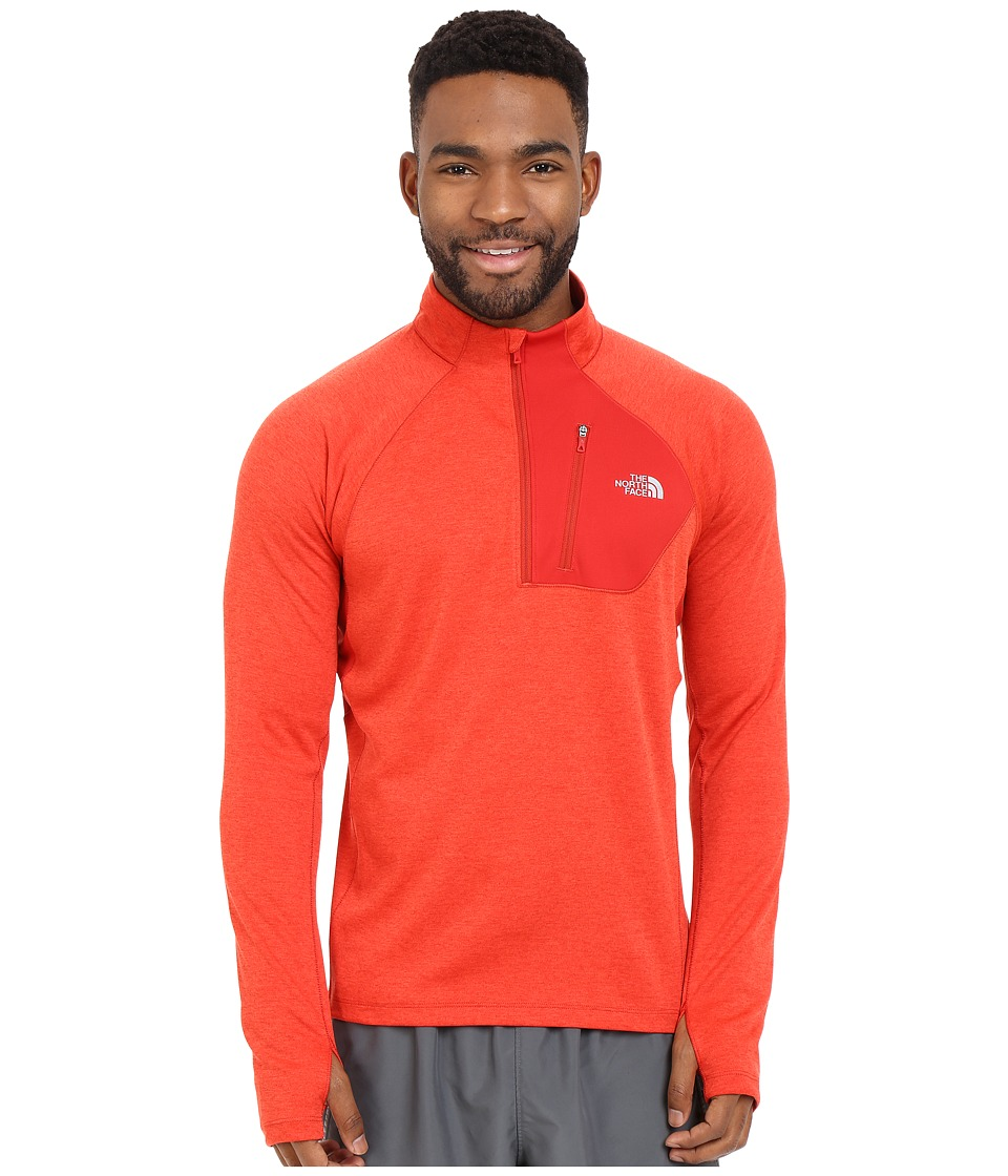 The North Face - Impulse Active 1/4 Zip Pullover (Pompeian Red Heather) Men's Long Sleeve Pullover