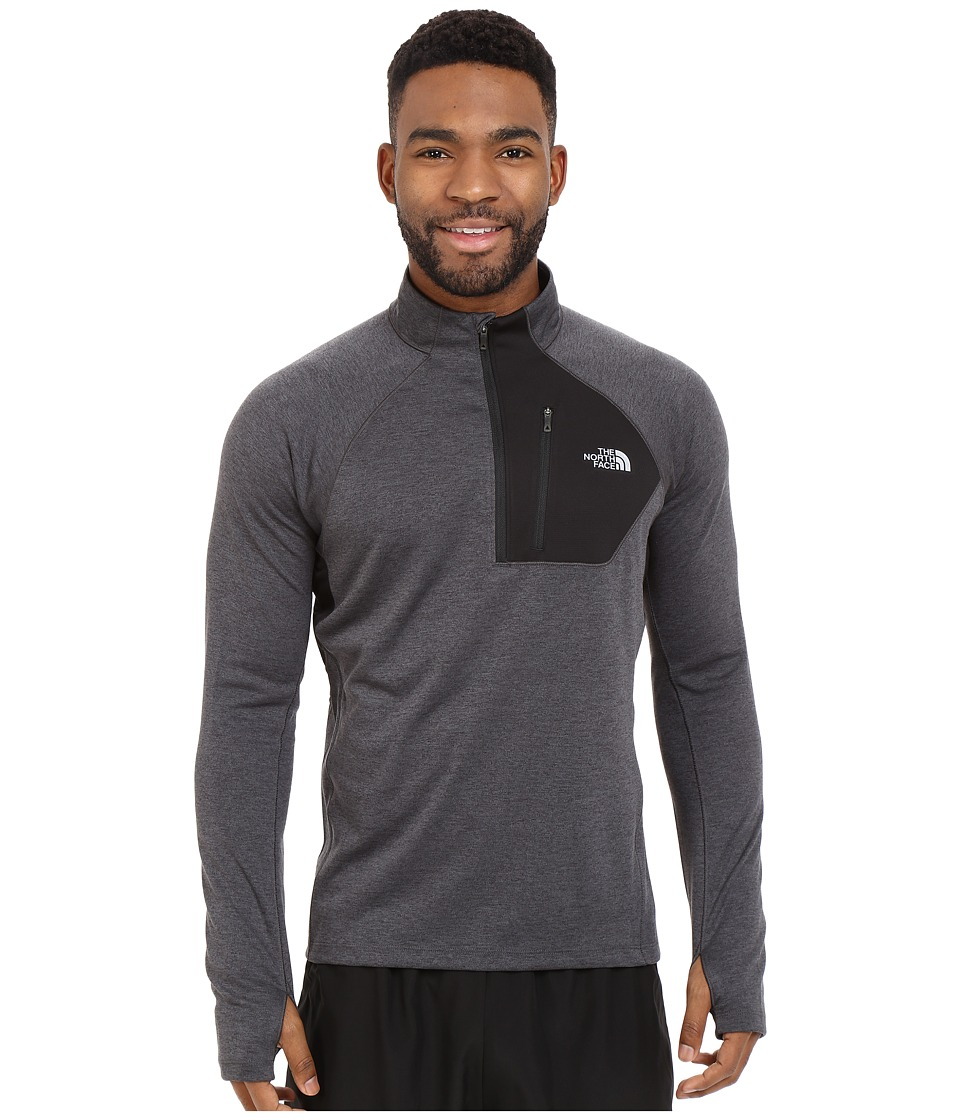 The North Face - Impulse Active 1/4 Zip Pullover (TNF Dark Grey Heather) Men's Long Sleeve Pullover