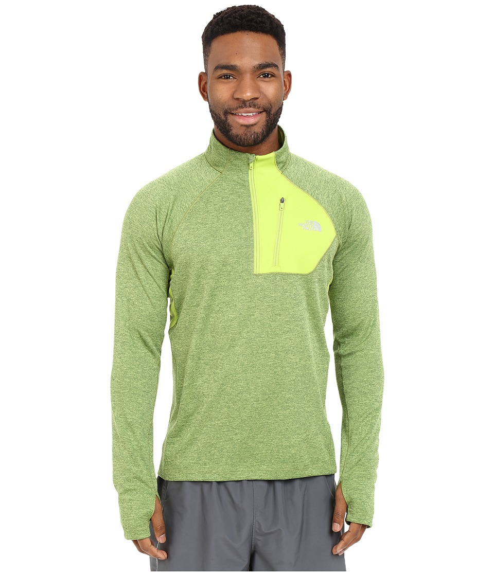 The North Face - Impulse Active 1/4 Zip Pullover (Macaw Green Heather) Men's Long Sleeve Pullover