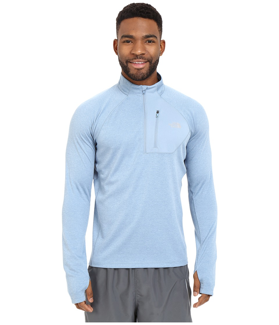 The North Face - Impulse Active 1/4 Zip Pullover (Faded Denim Heather) Men's Long Sleeve Pullover