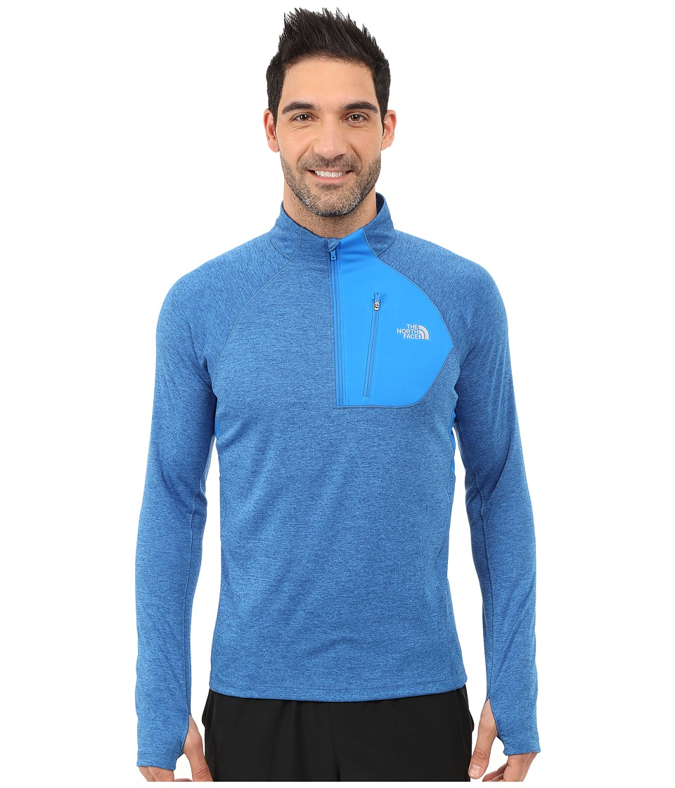The North Face - Impulse Active 1/4 Zip Pullover (Bomber Blue Heather) Men's Long Sleeve Pullover