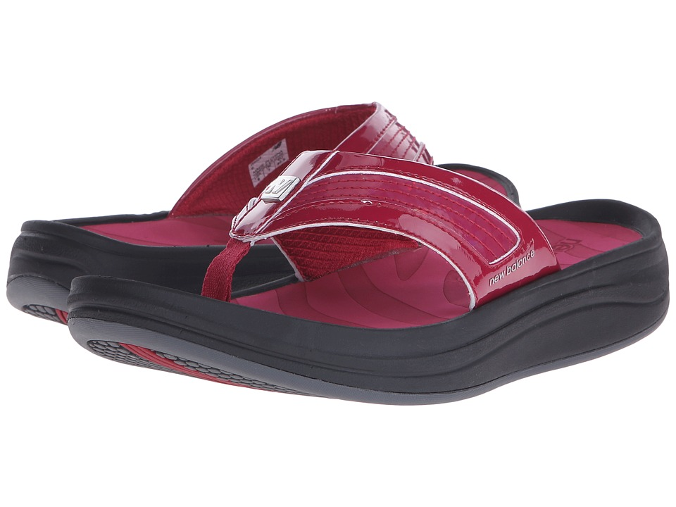New Balance - Revive Thong (Black/Red) Women's Sandals