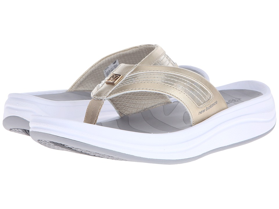 New Balance - Revive Thong (White/Gold) Women's Sandals