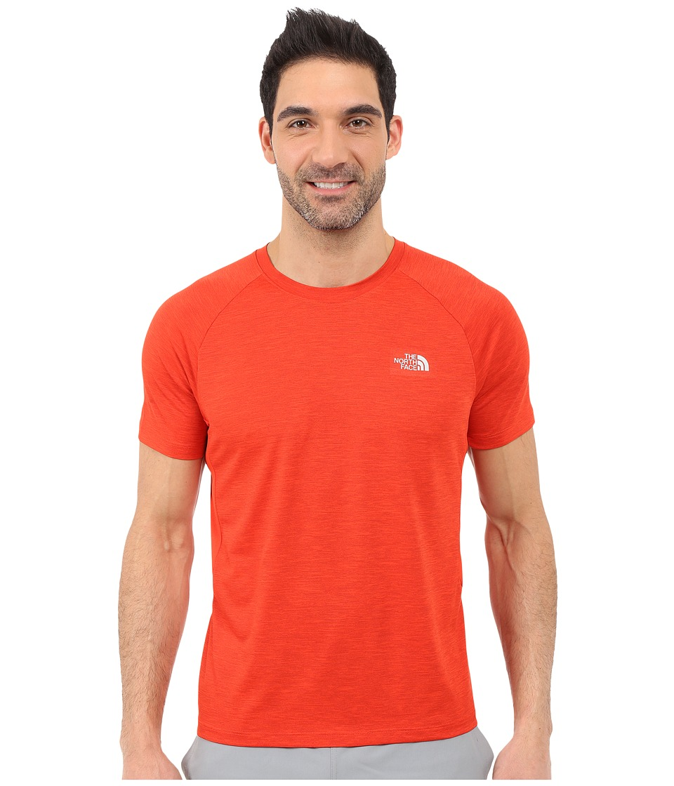 The North Face - Ambition Short Sleeve Shirt (Pompeian Red Heather) Men's Short Sleeve Pullover