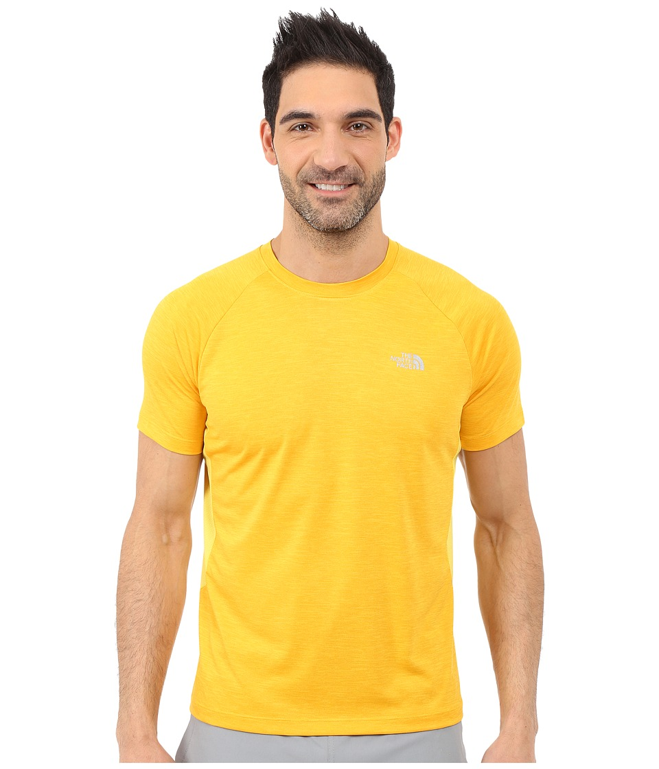 The North Face - Ambition Short Sleeve Shirt (Citrus Yellow Heather) Men's Short Sleeve Pullover