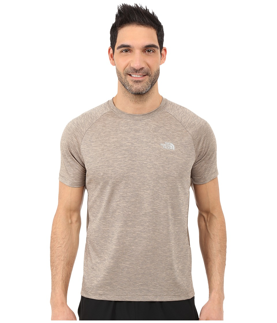 The North Face - Ambition Short Sleeve Shirt (Weimaraner Brown Heather) Men's Short Sleeve Pullover