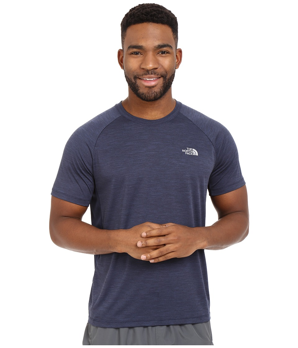 The North Face - Ambition Short Sleeve Shirt (Cosmic Blue Heather) Men's Short Sleeve Pullover