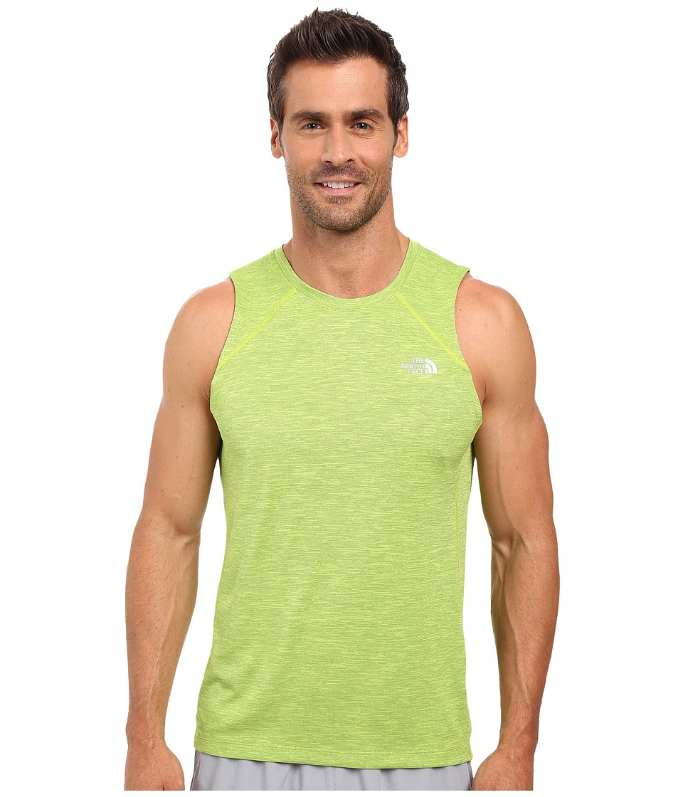The North Face - Ambition Tank Top (Macaw Green Heather) Men's Sleeveless