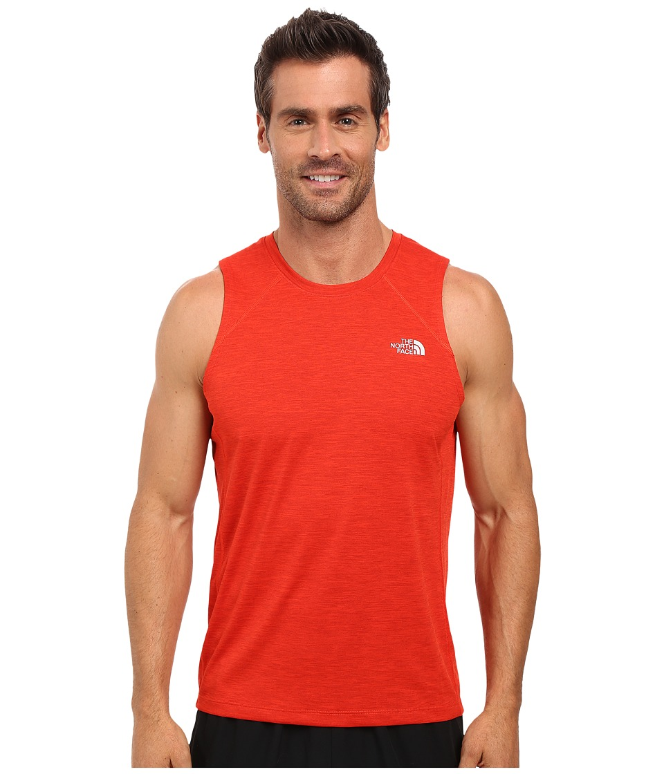 The North Face - Ambition Tank Top (Pompeian Red Heather) Men's Sleeveless