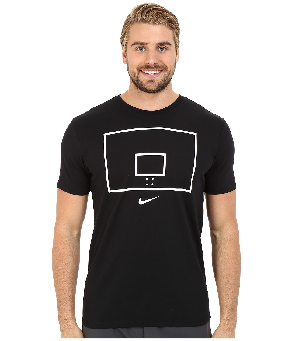 Nike - Hoop Arrow Tee (Black/Black/White) Men's T Shirt