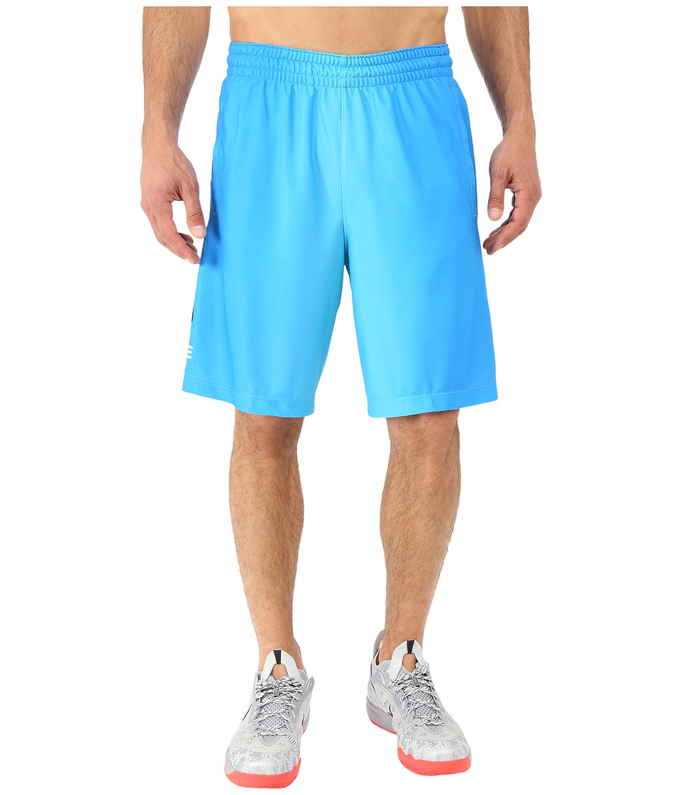 Nike Elite Stripe Plus Basketball Short (Omega Blue/Black/Photo Blue/Metallic Silver) Men