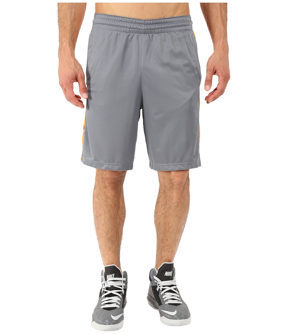 Nike - Elite Stripe Short (Cool Grey/Vivid Orange/Black/Metallic Silver) Men's Shorts