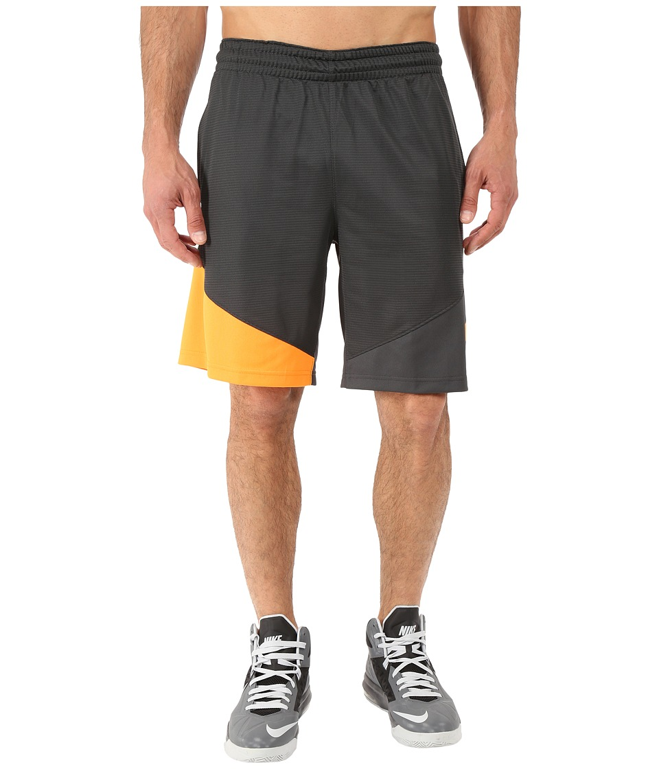 Nike - HBR Shorts (Anthracite/Anthracite/Vivid Orange/Vivid Orange) Men's Shorts