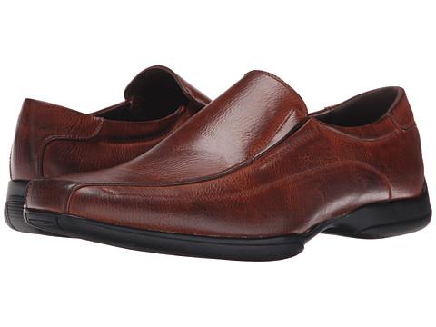 Kenneth Cole Unlisted - Crime Scene (Cognac) Men's Slip on Shoes