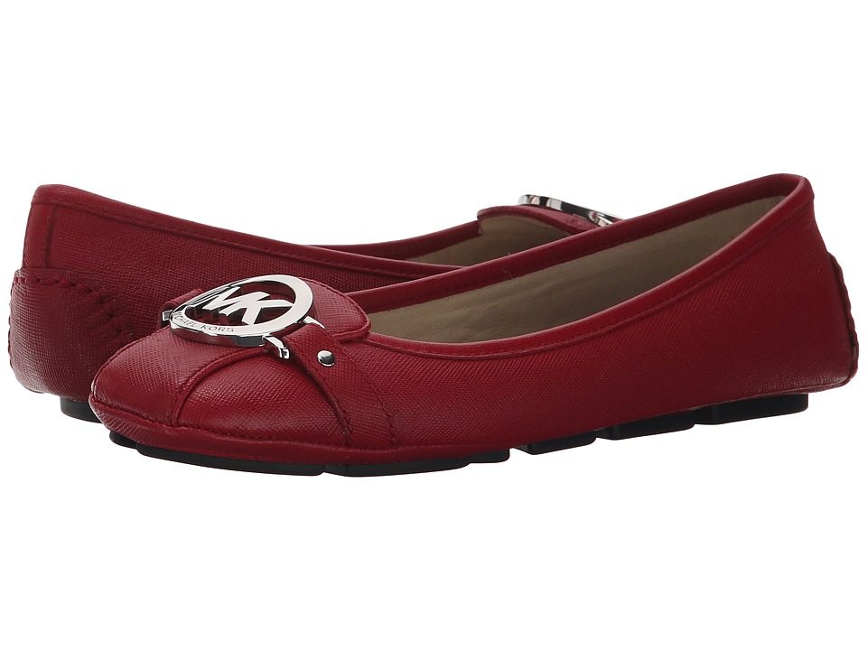 MICHAEL Michael Kors - Fulton Moc (Red Saffiano) Women's Slip on Shoes