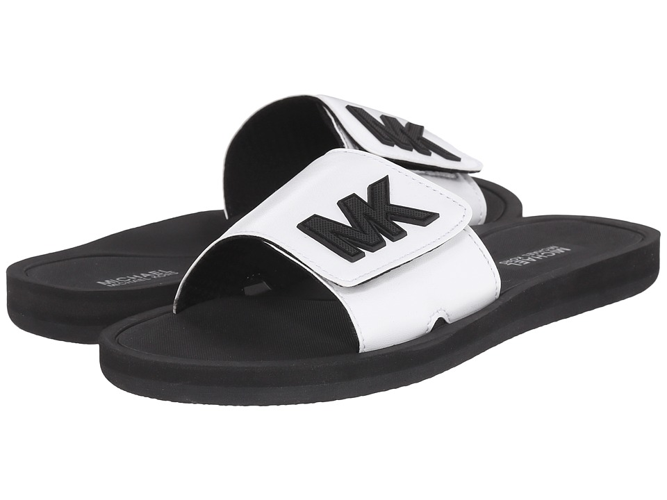 MICHAEL Michael Kors - MK Slide (Optic White Nappa) Women's Sandals