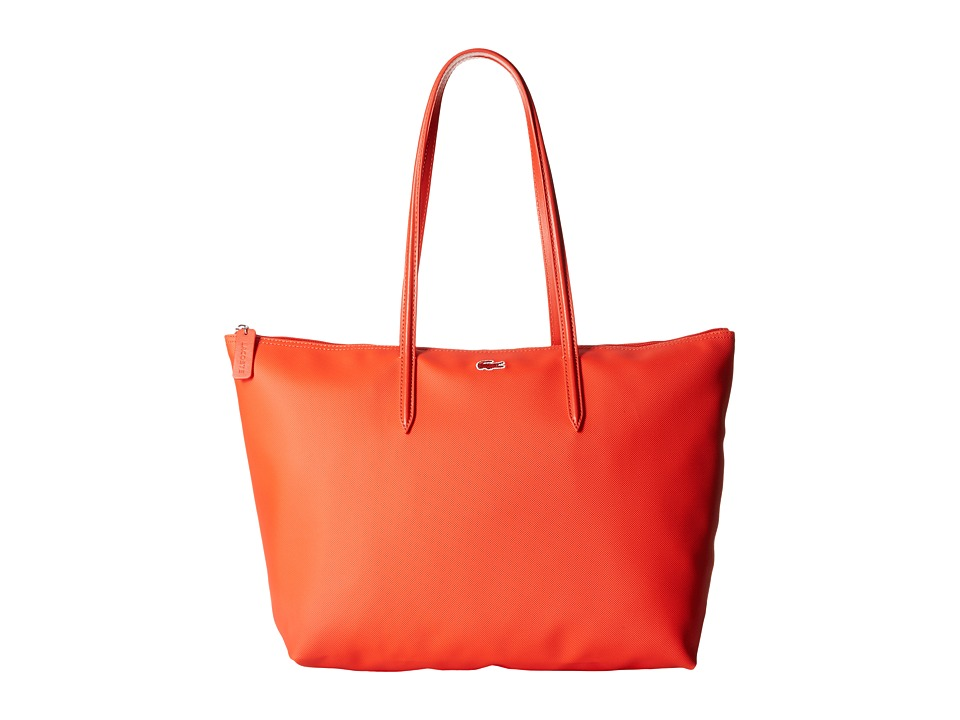 Lacoste - L.12.12 Concept Large Shopping Bag (Etna Red) Tote Handbags