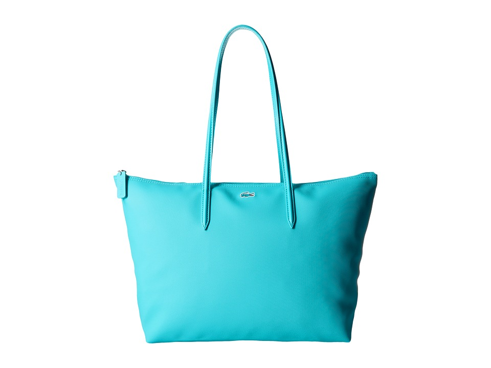 Lacoste - L.12.12 Concept Large Shopping Bag (Peacock Blue) Tote Handbags