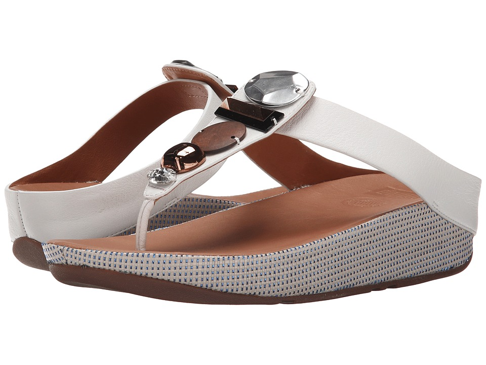 FitFlop - Jeweley Toe Post (Urban White) Women's Sandals