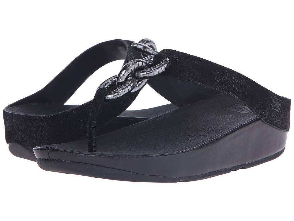 FitFlop - Superchain Toe Post (Black) Women's Sandals