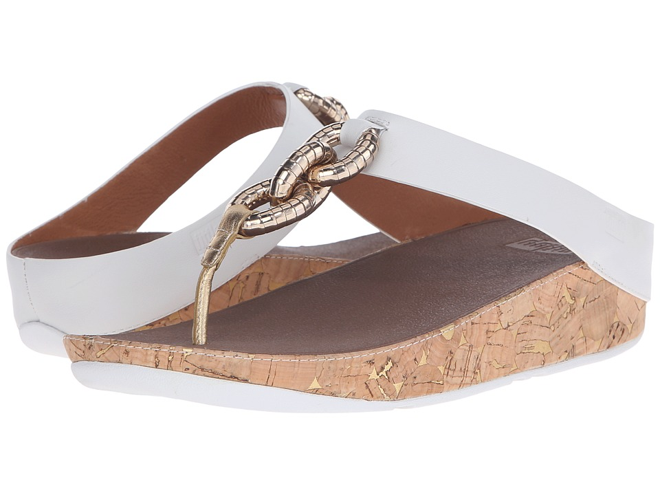 FitFlop - Superchain Toe Post (Urban White) Women's Sandals