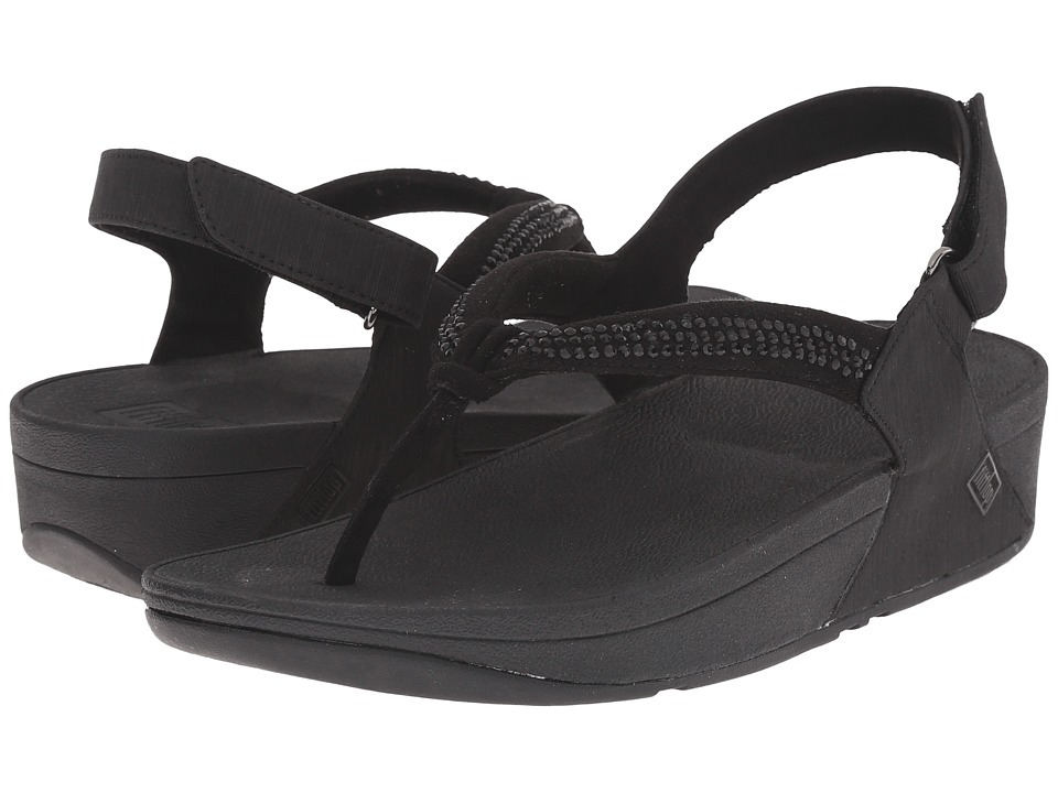 FitFlop - Crystal Swirl Sandal (Black) Women's Sandals