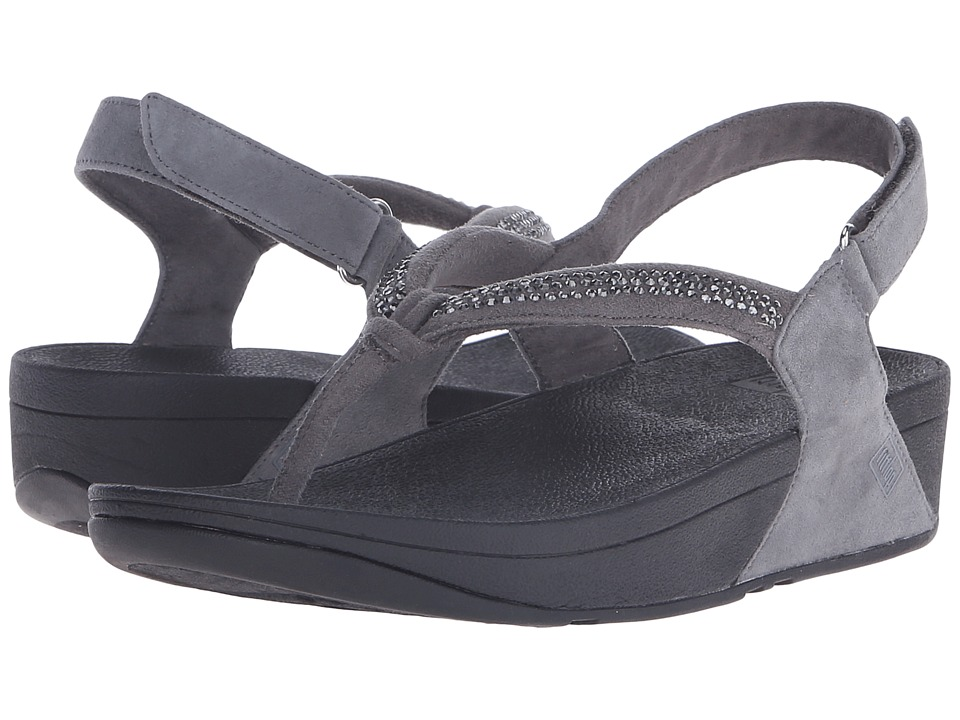 FitFlop - Crystal Swirl Sandal (Pewter) Women's Sandals
