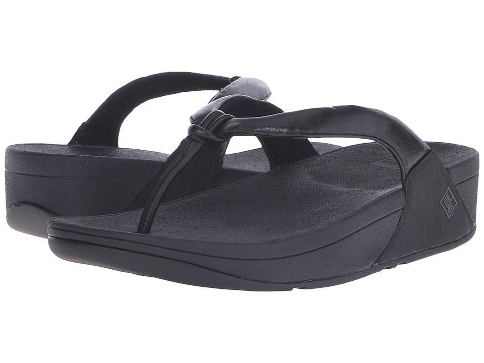 FitFlop - Swirl (All Black) Women's Sandals