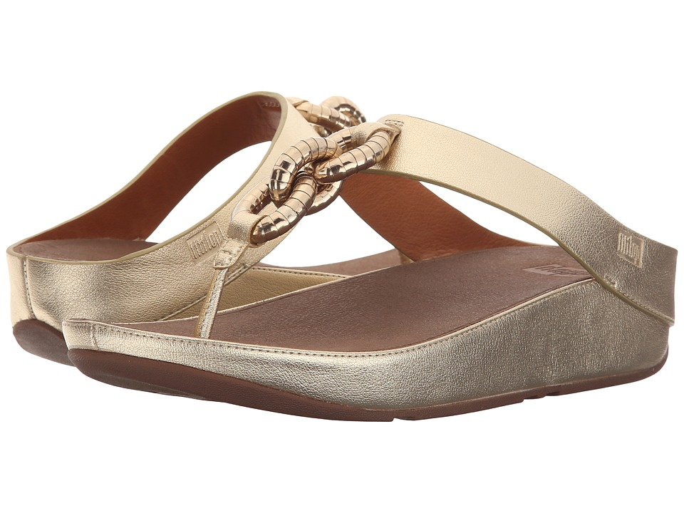 FitFlop Superchain Toe Post (Pale Gold) Women