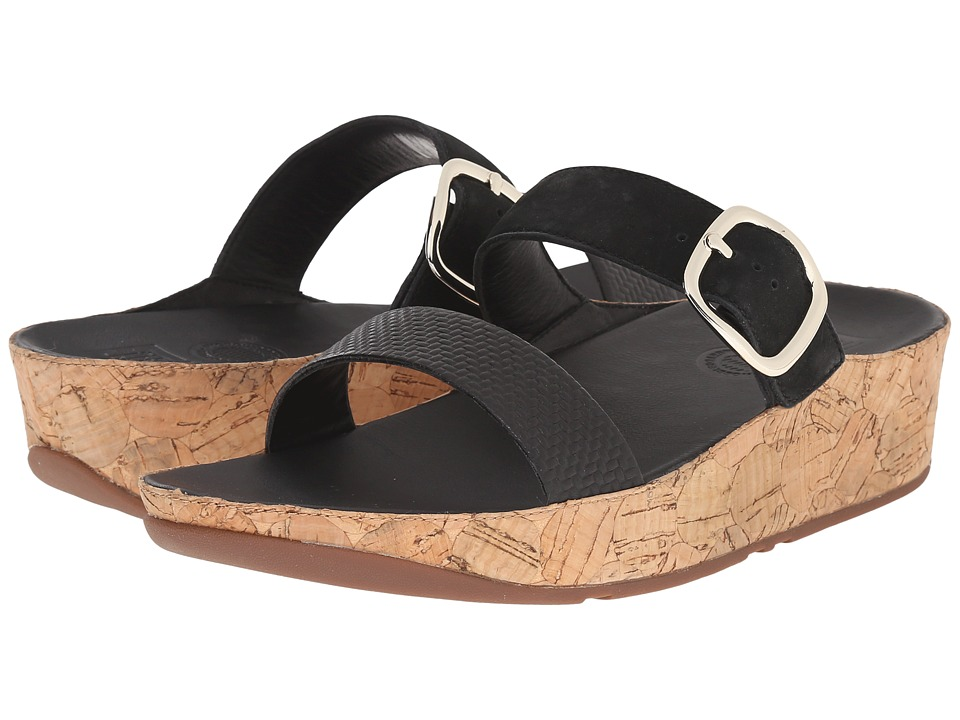 FitFlop - Stack Slide (Black) Women's Sandals