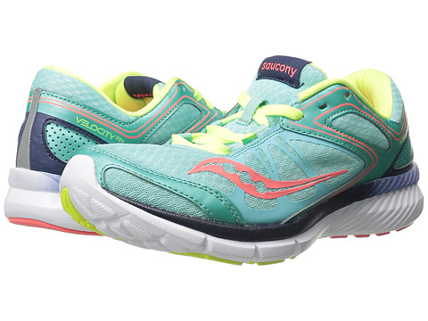 Saucony - Grid Velocity RN (Aqua/Navy/Citron) Women's Shoes