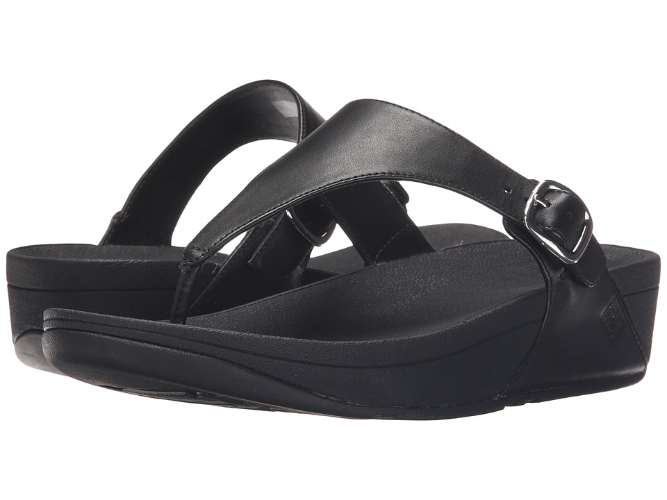 FitFlop The Skinny Leather All Black  Shoes