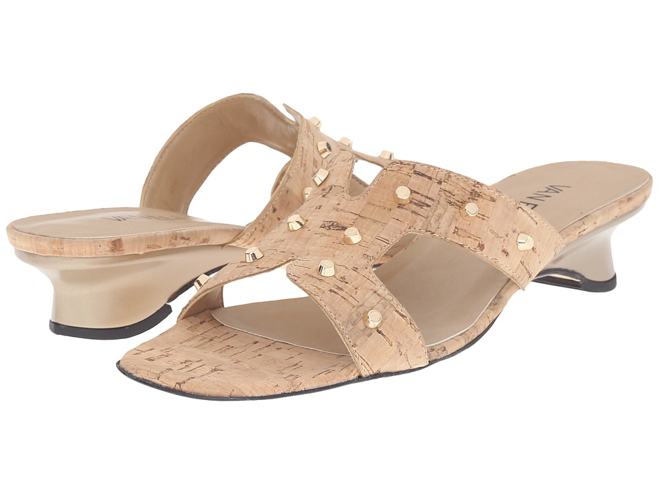 Vaneli - Benson (Natural Cork/Gold Trim) Women's Sandals