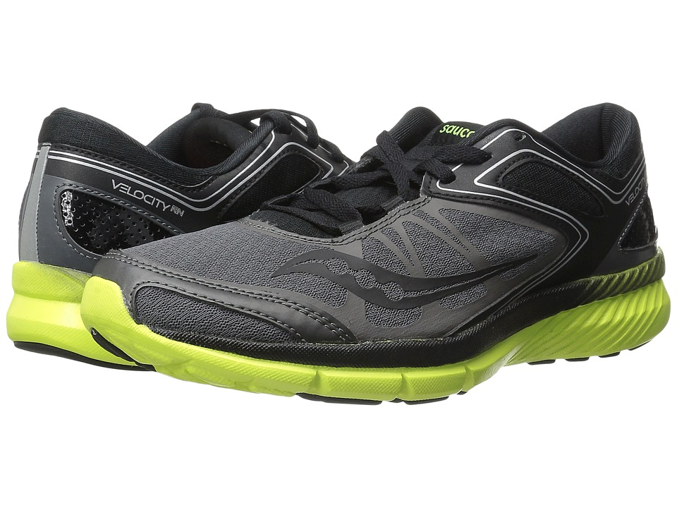 Saucony - Grid Velocity RN (Grey/Black/Citron) Men