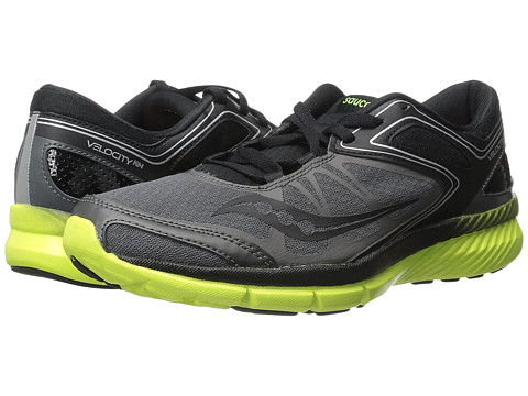 Saucony - Grid Velocity RN (Grey/Black/Citron) Men's Shoes