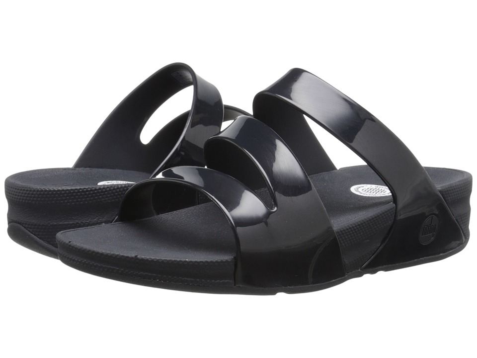 FitFlop - Superjelly Twist (Black) Women's Sandals