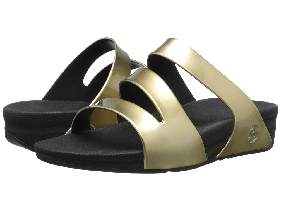 FitFlop - Superjelly Twist Metallic (Gold Mirror) Women's Sandals