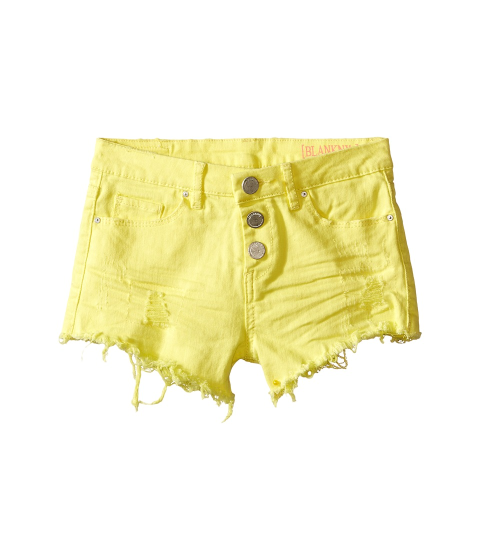 Blank NYC Kids - High Rise Shorts in Lemon Drop (Big Kids) (Lemon Drop) Girl's Shorts